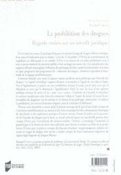 Prohibition des drogues a l epreuve des savoirs et des pratiques - 4ème de couverture - Format classique