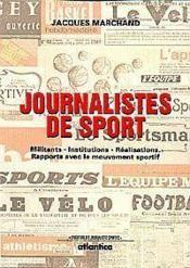 Les journalistes du sport - Couverture - Format classique