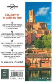 Lot, Aveyron et vallée du Tarn (édition 2018) - 4ème de couverture - Format classique