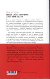 Penser la foi chrétienne après René Girard - 4ème de couverture - Format classique