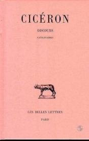 Discours t.10 ; catilinaires - Couverture - Format classique