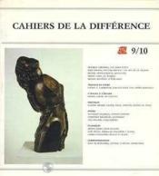 Cahiers De La Difference N 9-10 - Couverture - Format classique