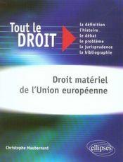 Droit matériel de l'Union européenne - Intérieur - Format classique