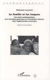 Famille Et Les Langues (Lesune Etude Sociolinguistique - Intérieur - Format classique