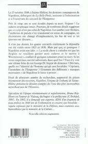 Napoleon, l'enigme de l'exhume de sainte-helene - 4ème de couverture - Format classique