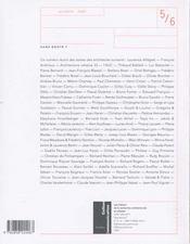 LES CAHIERS DE LA RECHERCHE ARCHITECTURALE ET URBAINE N.5-6 ; sans doute ? cent architectes parlent doctrine - 4ème de couverture - Format classique