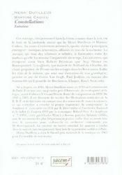 Constellations entretiens - 4ème de couverture - Format classique