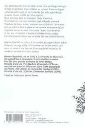 Floraison Sauvage - 4ème de couverture - Format classique