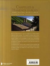 Chapelles et hameaux oubliés des alpes-maritimes - 4ème de couverture - Format classique