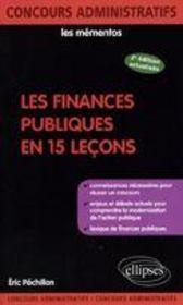 Les finances publiques en 15 leçons (2e édition) - Couverture - Format classique