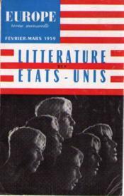 Littérature des états unis - Couverture - Format classique