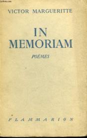 In Memoriam. Poemes. - Couverture - Format classique