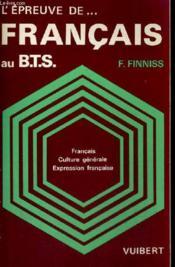 Epreuve De Francais Au Bts - Couverture - Format classique