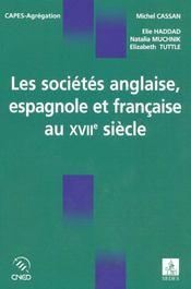 Les sociétés anglaise, espagnole et française au xvii siècle - Intérieur - Format classique