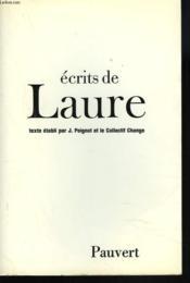 Ecrits de laure - Couverture - Format classique
