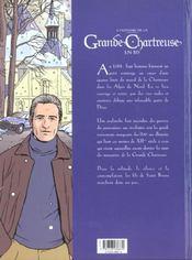 L'Histoire De La Grande Chartreuse En Bd - 4ème de couverture - Format classique