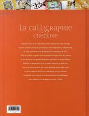 La calligraphie créative - 4ème de couverture - Format classique