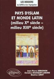 Pays d'islam et monde latin (milieu xe siecle milieu xiiie siecle) - Intérieur - Format classique