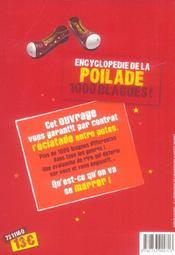 Encyclopedie De La Poilade - 1000 Blagues ! - 4ème de couverture - Format classique