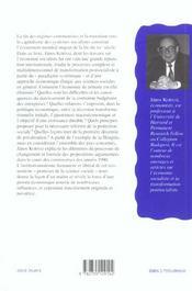 La Transformation Economique Postsocialiste. Dilemmes Et Decisions - 4ème de couverture - Format classique