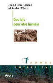 Des lois pour être humain - Intérieur - Format classique