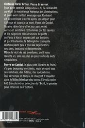Hortense Harar Arthur - 4ème de couverture - Format classique