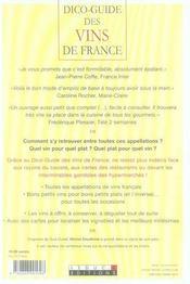 Dico-guide des vins de France - 4ème de couverture - Format classique