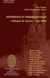 Expérience et herméneutique ; colloque de Nantes, juin 2005 - Couverture - Format classique