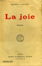 La Joie. - Couverture - Format classique