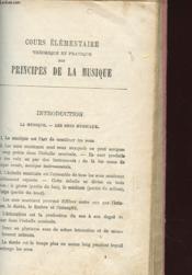 Cours Elementaire Theorique Et Pratique Des Principes De La Musique - Couverture - Format classique