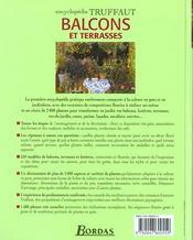 Encyclopedie Truffaut ; Balcons Et Terrasses ; Jardinieres Et Pots Fleuris Toute L'Annee - 4ème de couverture - Format classique