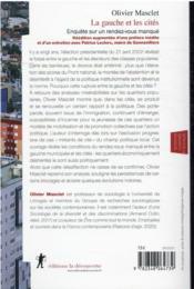 La gauche et les cités : enquête sur un rendez-vous manqué - 4ème de couverture - Format classique