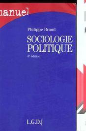 Manuel sociologie politique - Intérieur - Format classique