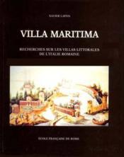 Villa Maritima Recherches Sur Les Villas Littorales De L'Italie Romaine (Iiie Siecle Av J.-C./Iiie S - Couverture - Format classique