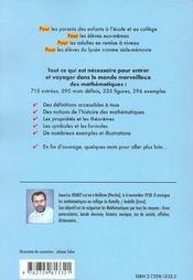 Dictionnaire Junior Des Mathematiques - 4ème de couverture - Format classique