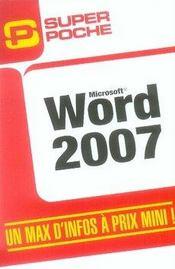 Word 2007 - Intérieur - Format classique