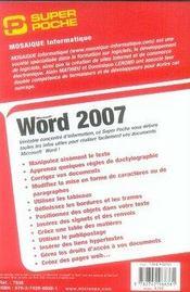 Word 2007 - 4ème de couverture - Format classique