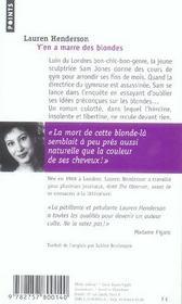 Y'En A Marre Des Blondes - 4ème de couverture - Format classique