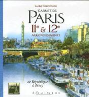 Carnet de paris 11 et 12e arrondissements - Couverture - Format classique