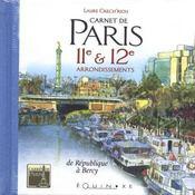 Carnet de paris 11 et 12e arrondissements - Intérieur - Format classique