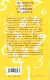 Enneagramme a la lumiere du symbolisme des nombres (l') - 4ème de couverture - Format classique