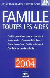 Famille. Toutes Les Aides - Intérieur - Format classique