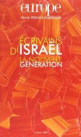 Revue Europe N.834 ; Ecrivains D'Israël ; La Nouvelle Génération - Couverture - Format classique