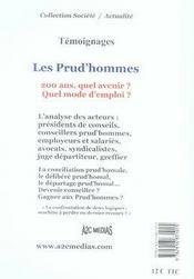 Les prud'hommes. 200 ans, quel avenir ? quel mode d'emploi ?temoignages - 4ème de couverture - Format classique