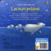 Les ours polaires - 4ème de couverture - Format classique