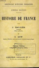 Histoire De France, Cours Moyen - Couverture - Format classique