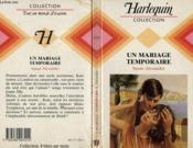 Un Mariage Temporaire - Temporary Husband - Couverture - Format classique