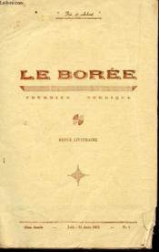 LE BOREE, COURRIER NORDIQUE / 6e ANNEE - JUIN-15 AOUT 1953 - N° 5 / VICTOR BEHAR, POETE SOLITAIRE - EMILE POITEAU : L'ISOLEMENT - MINEUR,OU DONC ES TU ? DE P. GALANT ... - Couverture - Format classique