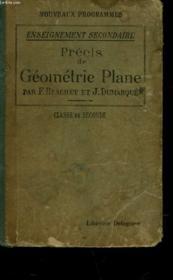 Precis De Geometrie Plane - Classe De Seconde - Couverture - Format classique