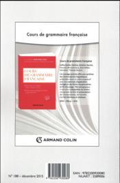 Langue française N.188 ; stabilité et instabilité dans la production du sens : la nomination en discours - 4ème de couverture - Format classique